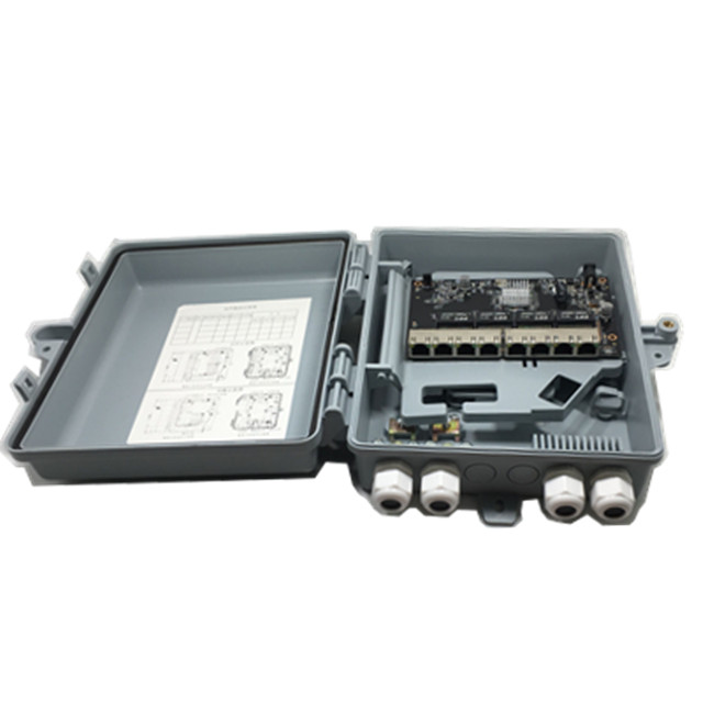 IP65 Esterno 8 porte 10/100/1000 M Ethernet Reverse poe Gigabit switch Gestito per FTTX water proof