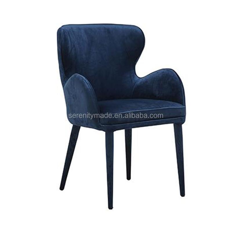 sillas comedor azul con brazo