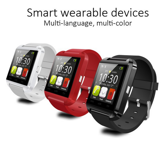 Smart Watch U8 smart watch multi- lauguage fit for IOS Android Apple remote camera mp3 player pedometer