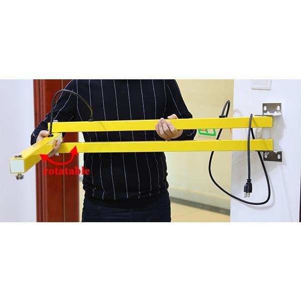 metal swing arms for loading dock light