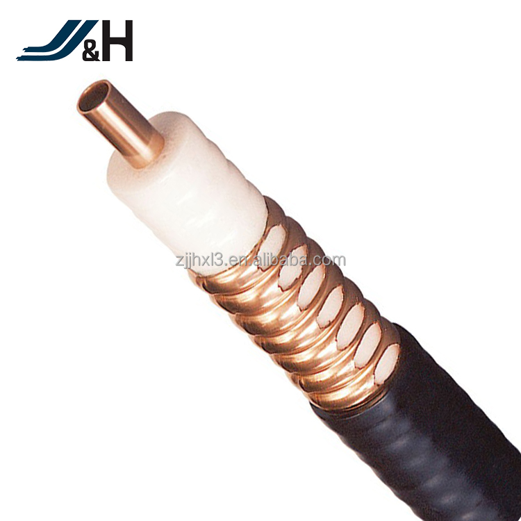 "1-5/8"" 1/4"" 1/2"", 7/8"", 1-1/4"" Flexible Corrugated Low Loss Leaky Feeder Cable"