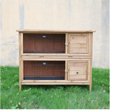 wholesale outside waterproof customized large run wooden rabbit hutch