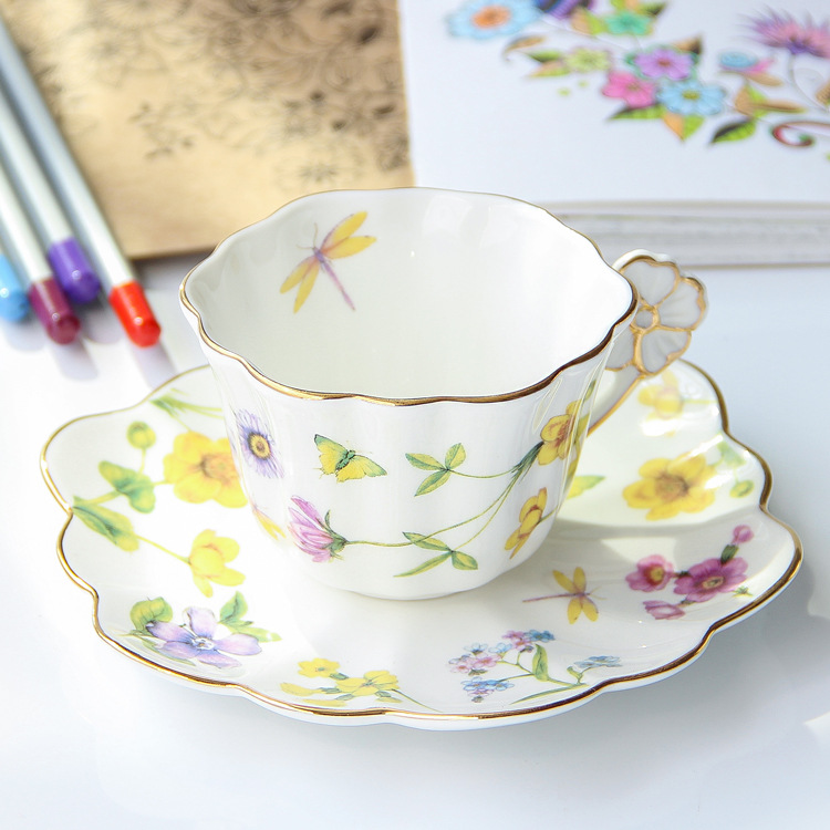 Coffee Shop/Restaurant Bone China Coffee Cup And Saucer/ Tea Cup And Saucer