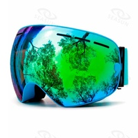 2019 Good Quality Glasses Ski Goggles custom logo Anti- fog Glasses Snowboard Goggles