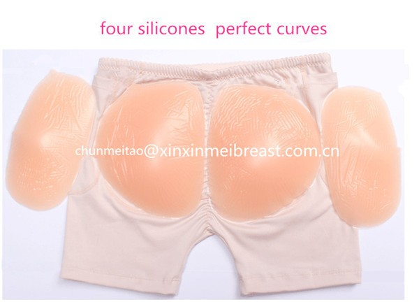 free shipping 750g per sets 4pcs silicone hip pads with panty for women enhancements to be beauty