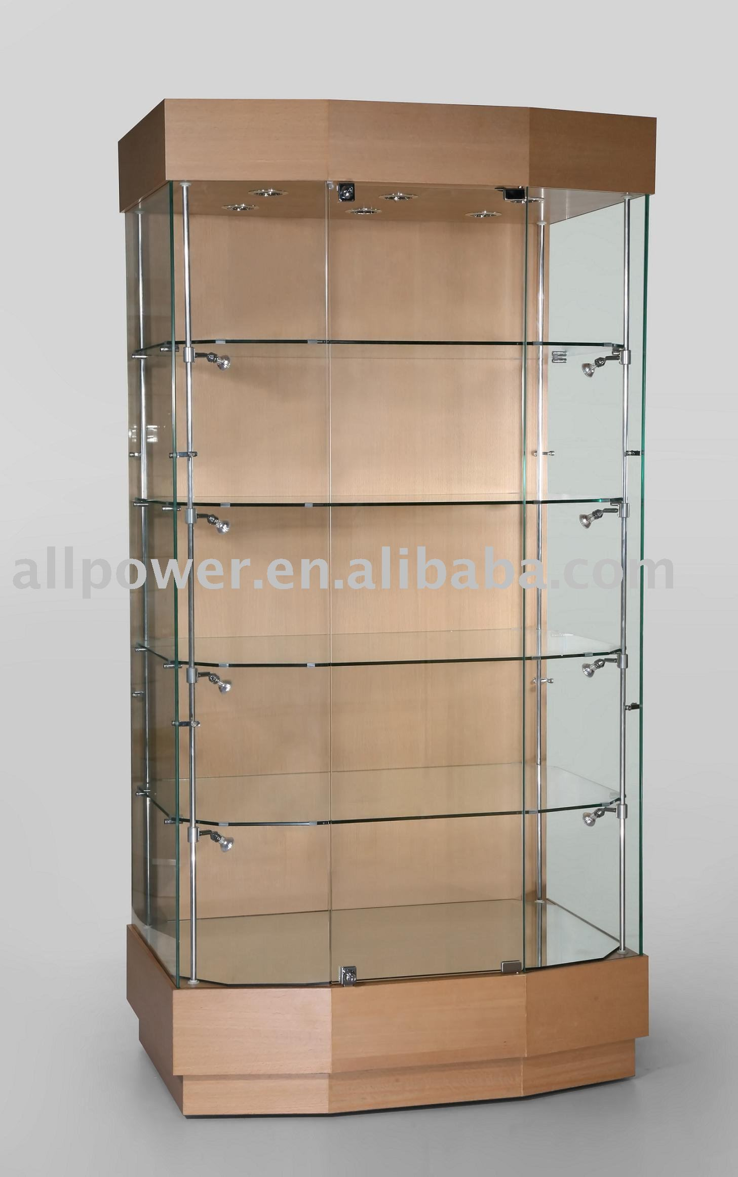 Wooden Floor Jewelry Cabinet Showcase,Tempered Glass Lockable Jewelry  Display Stand   Buy Jewelry Display Stand,Tall Jewelry Stand,Floor Jewelry  ...