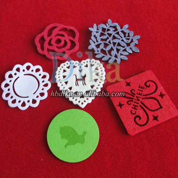 Colorful felt Cup mats, laser cutting felt