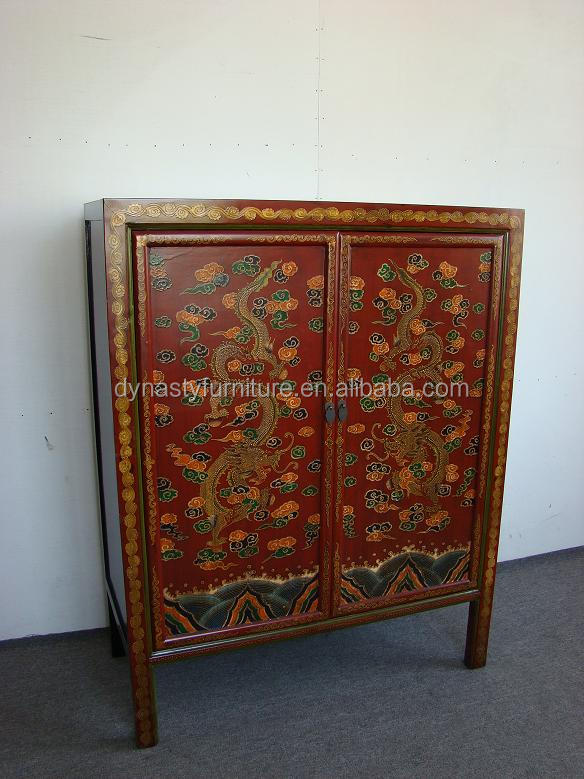 tibetan furniture hand painted wood cabinet