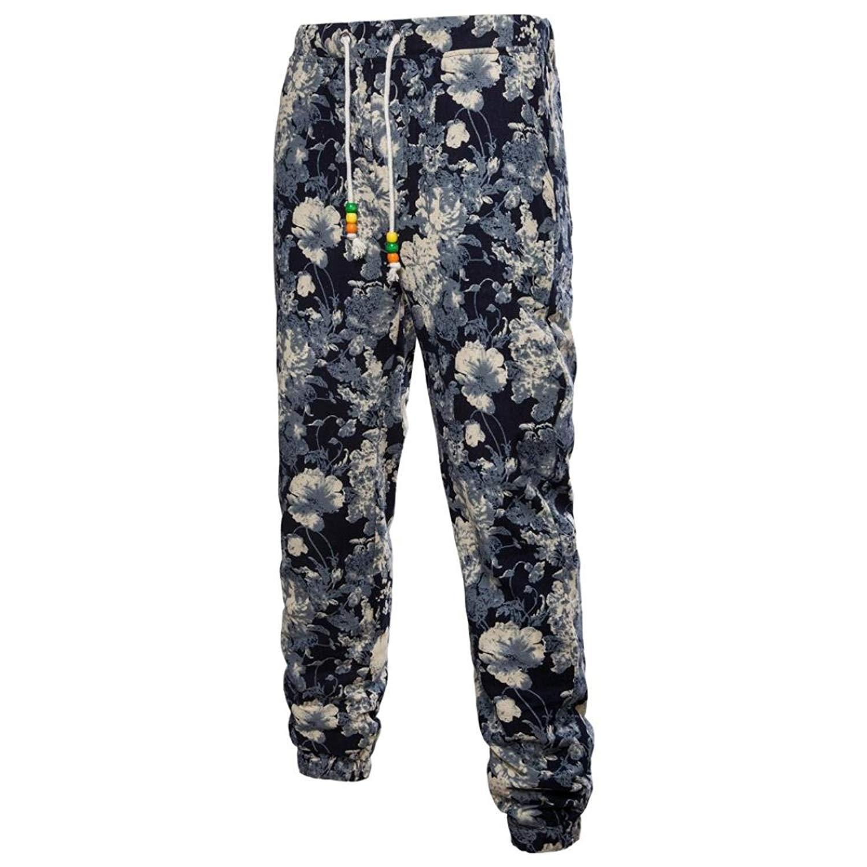 242561dab072ff Get Quotations · Allywit Mens Ethnic Retro Style Print Casual Cotton Flax  Sweatpants Slacks Casual Jogger Sportwear