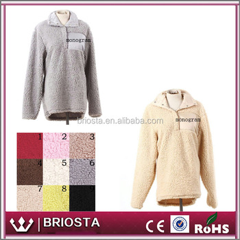 Wholesale Custom Monogrammed Frosted Fleece Sherpa Pullover - Buy ...