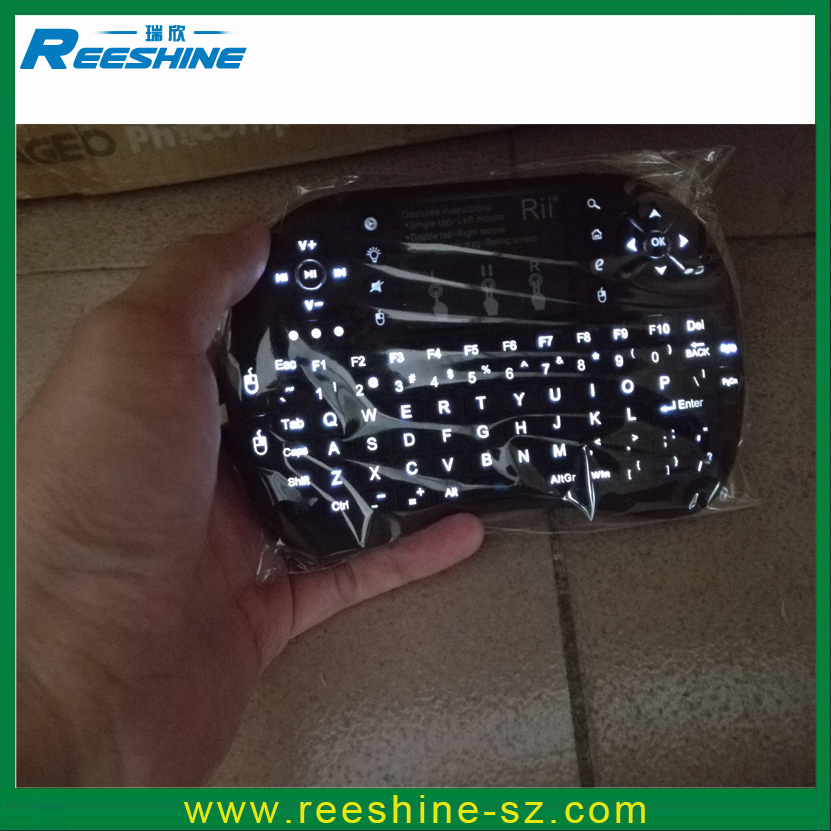 Real Rii i8 2.4G backlit keyboard i8+ wireless backlight keyboard touchpad