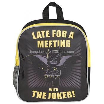 2018 Kids school backpack bag batman lego movie junior boys kids backpack  rucksack school bag