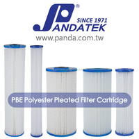 Polyester pleated filter cartridge, swimming pool filter cartridge, spa cartridge filter