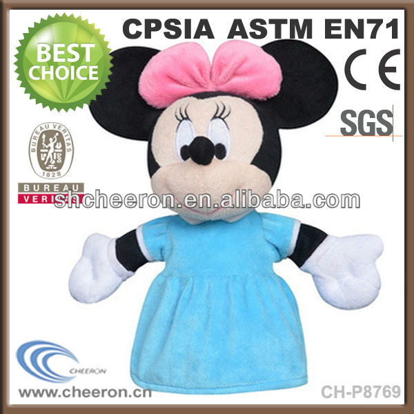 Cute plush hand puppet mickey mouse plush puppet