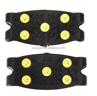 Snow Ice Climbing Anti Slip Spikes Grips Crampon Cleats 5-Stud Shoes Cover ISP DHL Freeshipping