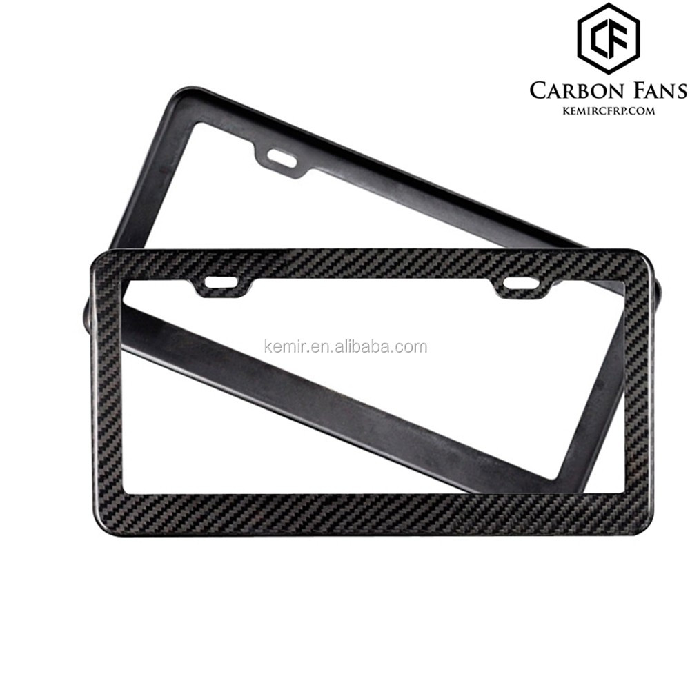 100% Real Carbon Fiber License-plate Frame For Us Car Number Plate ...