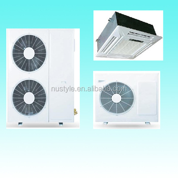 Air Conditioner Cassette Ac (9000btu- 48000btu,R22/r410a,50hz/60hz) - Buy 4  Way Cassette Air Conditioner,Cassette Type Fan Coil Unit,Ceiling Mounted