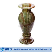 Wholesale Home Decor Green Onyx Marble Single Tall Flower Vase