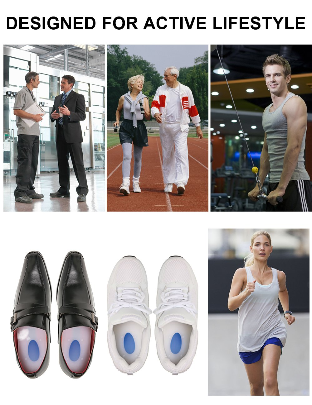 Hot selling Silicone Orthotic Shoe Insole for Extra Cushioning and Pain Relief