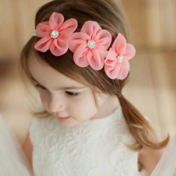 S64593B Fashion Newborn Toddler Children Hair Accessories Baby Headband Lace Flowers Cute  Headband