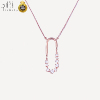 D01 Best selling products fashion rose gold custom diamond pendant chain jewelry women necklace