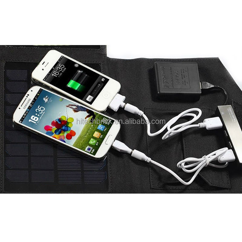Frosted Waterproof 21Watt 5V Folding Solar Panel Charger USB Controller Charger for iPhone Samsung Phones PSP MP4