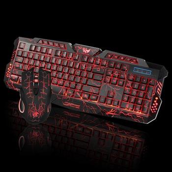 HXSJ J10 USB cracked colorful backlight gaming mouse and keyboard set, View  gaming mouse and keyboard set, HXSJ Product Details from Majortech