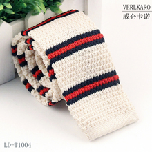 Men's Fashion Striped Skinny Knitted Tie For Man
