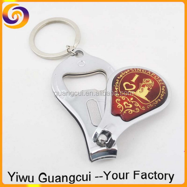 Singapore Souvenir Bottle Opener Nail Clipper Keychain Key Ring ...