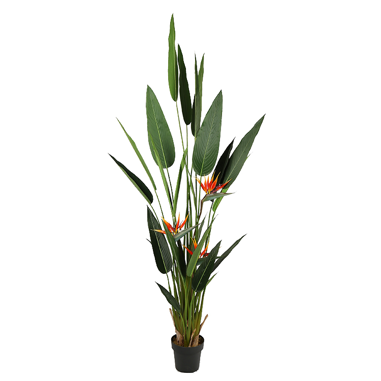 2.1m Strelitzia Reginae Artificial Real <strong>Tree</strong> With <strong>House</strong> For <strong>Home</strong> Furniture