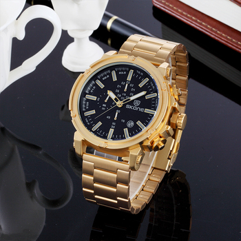 c2f9b917a New Stylish Chronograph Fashion Clock Men's Gold Wrist Watch - Buy ...