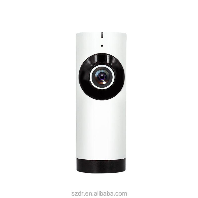 185 degree 720 P 1mp IP camera wifi with fisheye lens IR night vision for home security