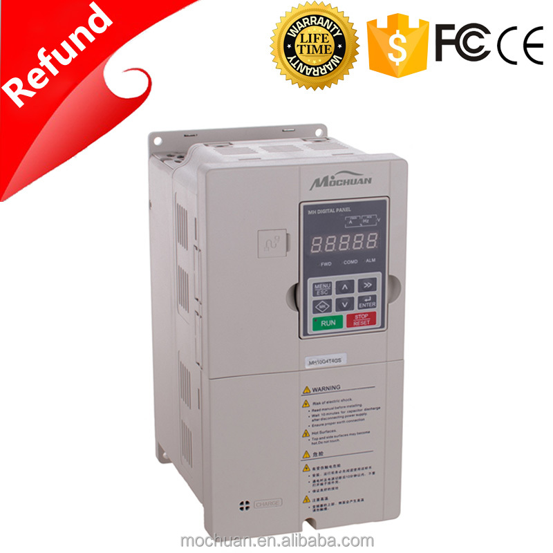 4kw 5hp 3 phase 380v torque frequency inverter 50hz 60hz for motor speed