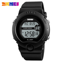 Skmei 1334 Brand Men Sports Wrist Watch Plastic Led Chronograph Alarm Luminous Clock 50m Waterproof Women Fashion Digital Watch