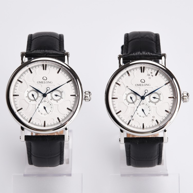Omax Quartz Watch Stainless Steel Japan Movt Watch With Stone Cnc ...