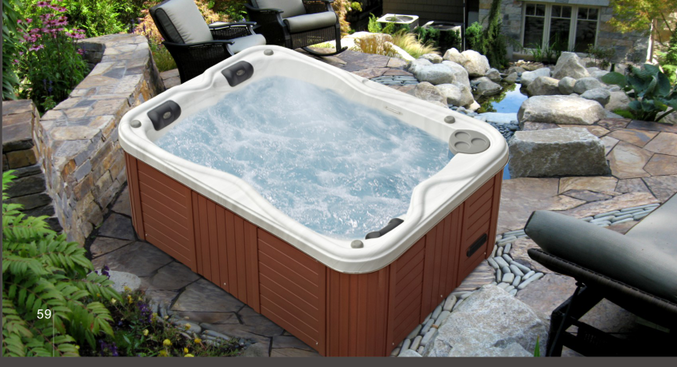 Jazzi Hot Sale New Design Mini 2 Person Indoor Massage Hot Tub Spa ...