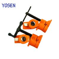 heavy duty cast iron powder coating quick release adjustable types of pipe clamp 1/2 for woodworking tools