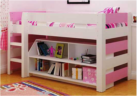 Mdf Half Tall Bunk Bed Bunk Bed For Children Mail Packages With Foam