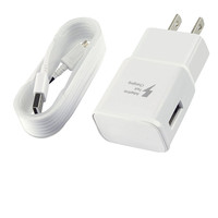 Original AU EU US UK plug For Samsung galaxy S6 S7 S8 fast charger 9V 1.67A with micro USB cable