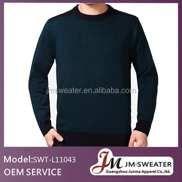 2014 men classic black cotton wool warm knit wear V-neck sweater/pullover /solid/soft touch/made in china