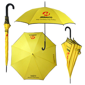 yellow auto open cheap promotional umbrellas