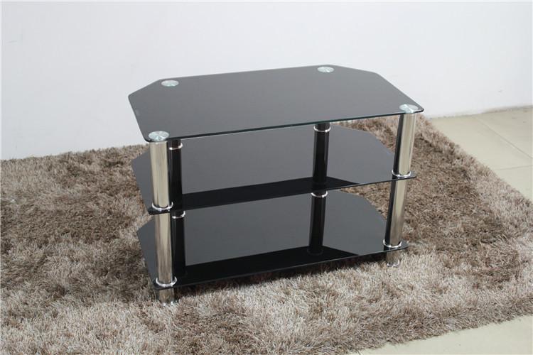Modern Tv Meubel Zwart.Simple Modern Design Tempered Glass Black Tv Stand Buy Cheap Tv