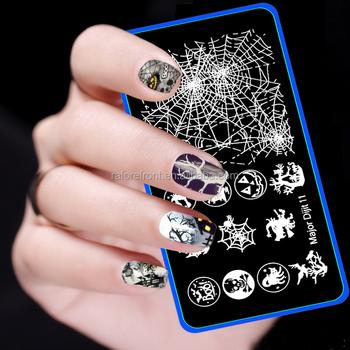 Halloween Design Major Dijit 6cm12cm Image Stamp Template Nail Art Stamping Plates Stainless Steel