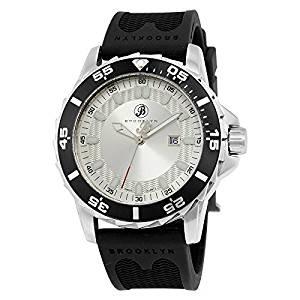Brooklyn Waterbury Sports Diver Silver Dial Swiss Quartz Watch 302-M1123