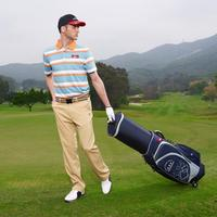 Helix design golf bag cover for protecting golf clubs /golf tour staff bag with wheels / golf caddy bag with wheels