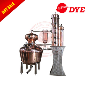 Home Use CIP Manifold Built Micro Alcohol Distiller Copper Gin Distillery Equipment
