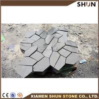Exterior High Quality Irregular Black Slate Floor Tile For Outdoor Slate Stepping Stones