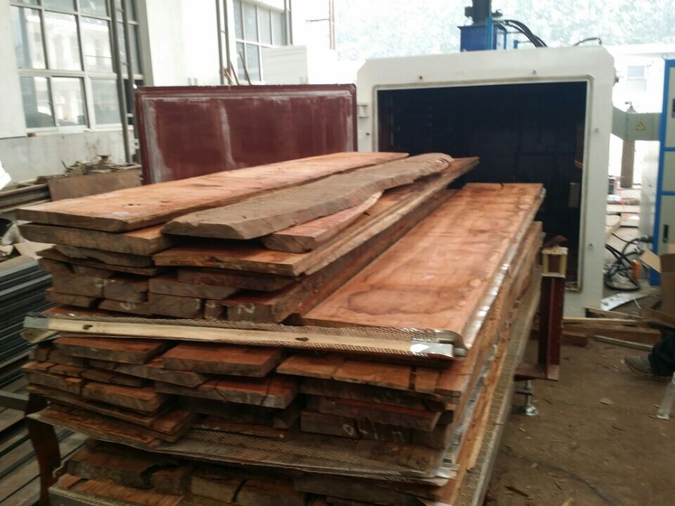 High frequency vacuum fully auto woodworking equipments for drying wood timber lumber