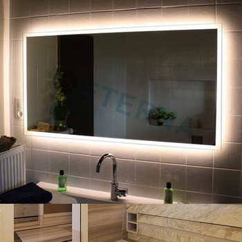 bathroom mirrors with led lights. ETERNA Edgeless LED Lighted Vanity Makeup Bathroom Mirror Mirrors With Led Lights R