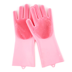 Five Finger Magic Silicone Massage Cleaning Dog Cat Brush Hair Remover Pet Grooming Gloves